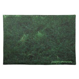 Green Grass Cloth Placemat