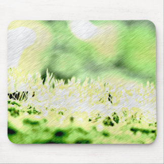 Green Grass Color Hatch Mouse Pad