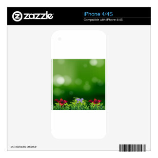 Green grass decals for the iPhone 4S