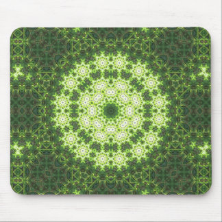 Green Grass Digital Mandala Mouse Pad