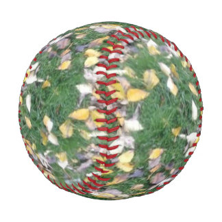 Green Grass & Dry Leaves, Custom Baseball