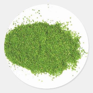 Green Grass ECO System Classic Round Sticker