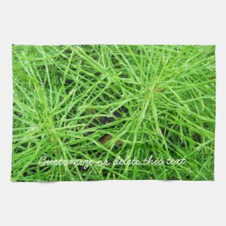 Green Grass Fireworks; Customizable Hand Towels