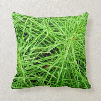 Green Grass Fireworks; No Text Throw Pillows