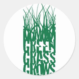 Green Grass Grows Classic Round Sticker