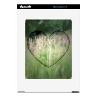 Green Grass Heart Decals For The iPad