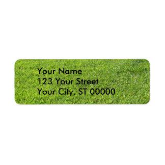 Green Grass Return Address Labels