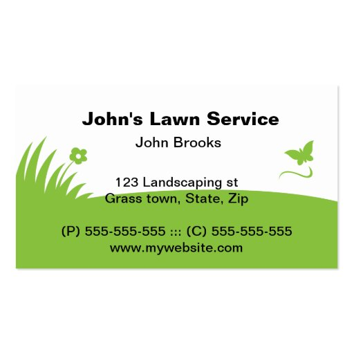 Latest bed back designs - Green Grass Lawn Care Business Cards Zazzle