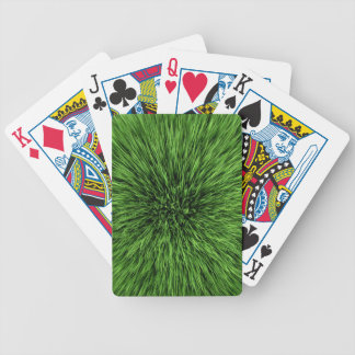 Green Grass Lawn Pattern Bicycle Playing Cards