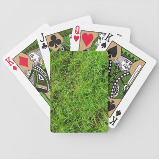 Green Grass Pattern Bicycle Playing Cards