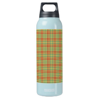 Green Grass Plaid Customizable Thermos Bottle