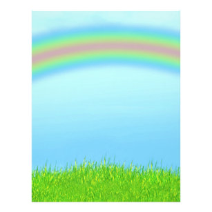 rainbow background flyers zazzle