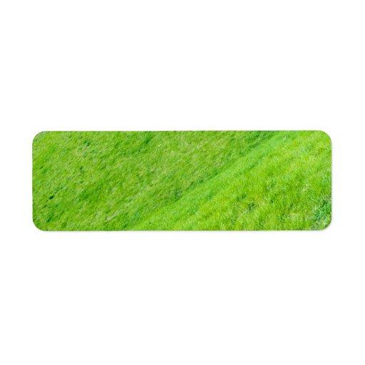 Green grass return address label