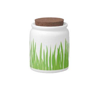 Green Grass Summer Candy Jar