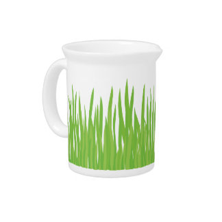 Green Grass Summer Pitcher