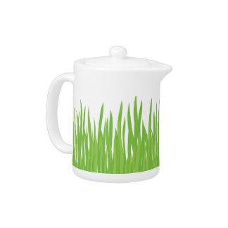 Green Grass Summer Teapot