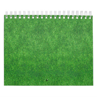 Green Grass Texture Abstract Background Calendar