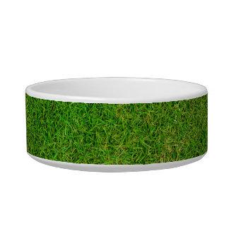 Green Grass Texture Cat Bowls