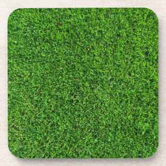 Green Grass Texture Drink Coaster