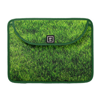 Green grass texture from a soccer field sleeve for MacBooks