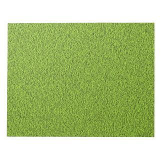 Green grass texture memo notepad