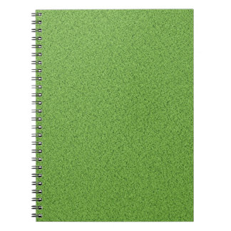 Green grass texture notebook