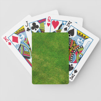 Green Grass Texture Bicycle Poker Cards