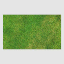 Green Grass Texture Rectangular Sticker