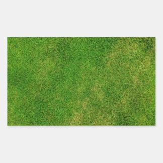 Green Grass Texture Rectangular Sticker