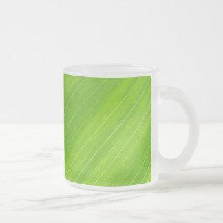 Green Grass Textured Art Frosted Glass Coffee Mug