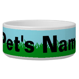 Green Grass with Name Bowl