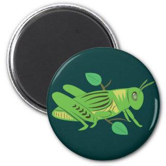 Green Grasshopper 2 Inch Round Magnet