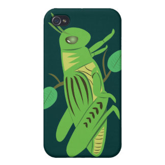 Green Grasshopper iPhone 4 Cases