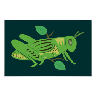 Green Grasshopper Posters