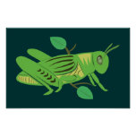 Green Grasshopper Posters