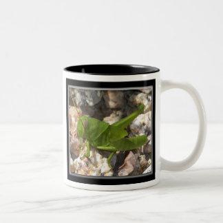 Green Grasshopper Two-Tone Coffee Mug