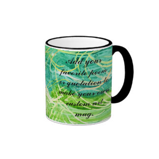 Green Grassy Abstract Watercolor For Personalizing Coffee Mugs