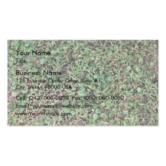 Green grassy ground business card templates