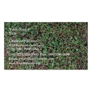 Green grassy ground business card