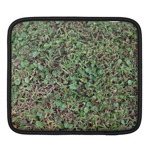 Green grassy ground sleeve for iPads