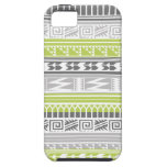 Green Gray Abstract Aztec Tribal Print Pattern iPhone 5 Cases