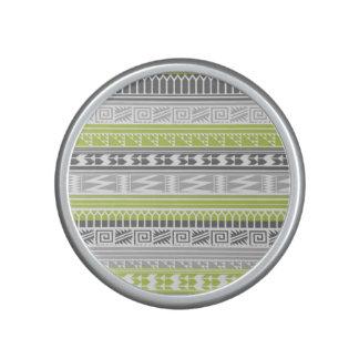 Green Gray Abstract Aztec Tribal Print Pattern Speaker