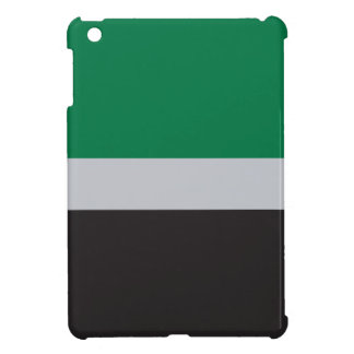 green gray and black cover for the iPad mini