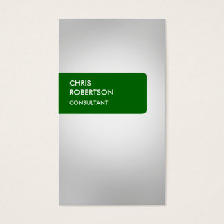 Green Gray Attractive Business Card