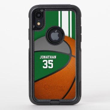 green gray basketball team colors varsity boys OtterBox commuter iPhone XR case