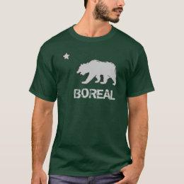 Green gray Boreal California bear guys tee