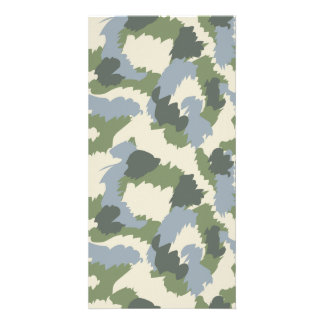 Green Gray Brown Camouflage Card