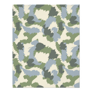 Green Gray Brown Camouflage Flyer