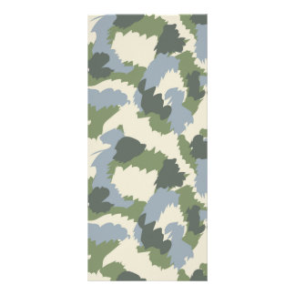 Green Gray Brown Camouflage Rack Card