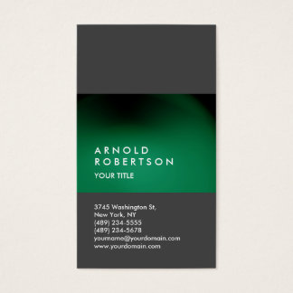 Green Gray Customize Professional Business Card